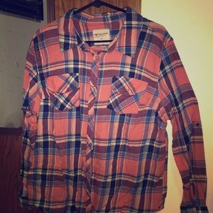 Flannel button down shirt (snaps) XXL
